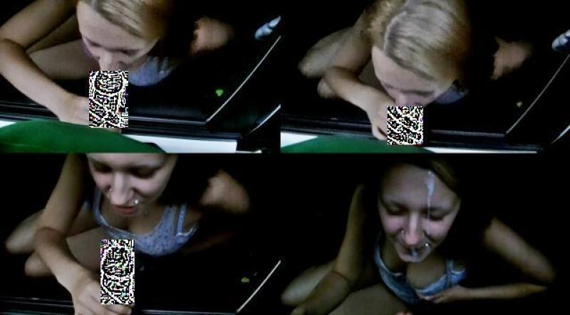 18 jaehriges unerfahrenes ParkplatzLuder Tia begommt Ihr Gesicht Besamt